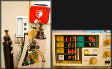 血圧計・AED&笑気ガス・酸素